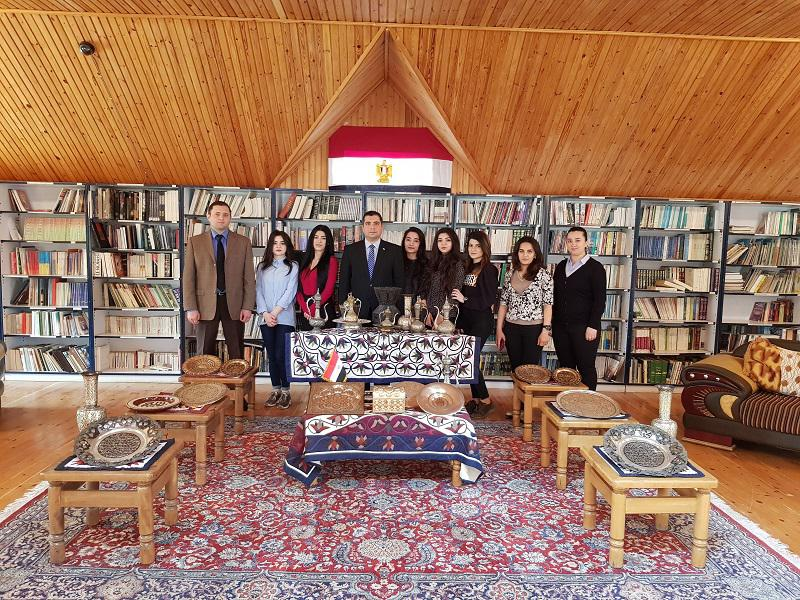 Interns of the Knowledge Foundation visited the Egyptian Culture and Educational Relations Center