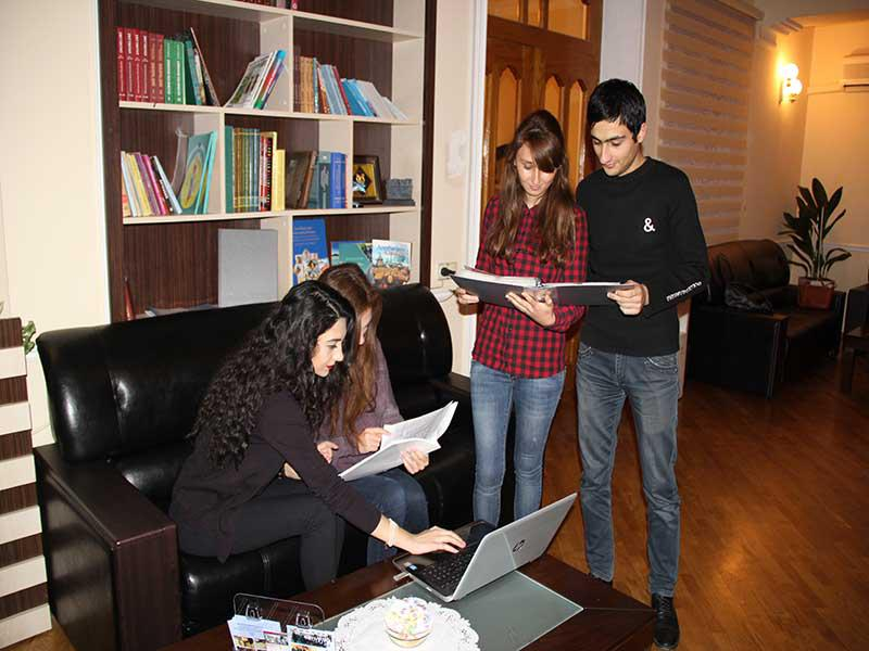The students are doing practice at the Knowledge Foundation