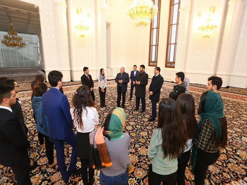 "Members of the Youth club ""Let's study and teach our history""- at the Heydar Aliyev Mosque"