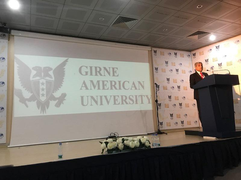 The representative of the Knowledge Foundation spoke about the achievements of Azerbaijani education at the Girne American University